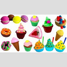 Toy Cutting Food Kitchen Playset Play Food Cakes Desserts