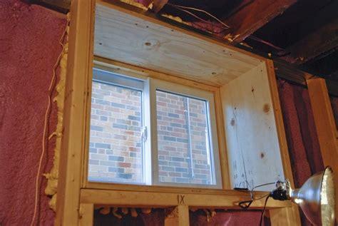 Finishing Window Sills by Framed Basement Window Basement Ideas