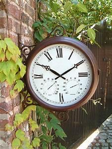 Horloge De Gare : horloge de gare exterieur thermom tre hygrom tre double face 38cm about time 99 99 ~ Teatrodelosmanantiales.com Idées de Décoration