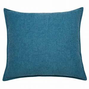 Coussin En Tissu Bleu Cobalt 60x60cm CHENILLE Maisons Du