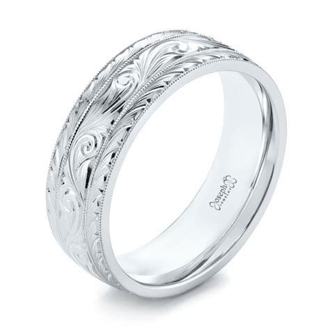 custom engraved men s wedding band 103458 seattle bellevue joseph jewelry