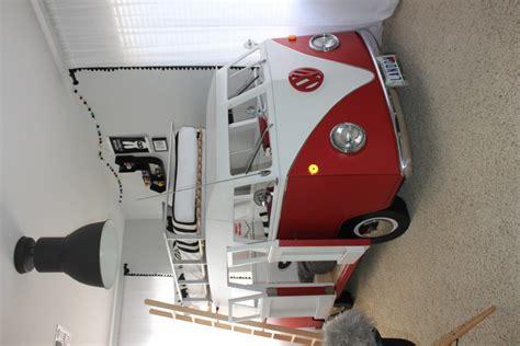 vw bus monochrome superhero big boy room project nursery