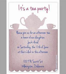 party invitation template download in psd pdf With tea party menu template