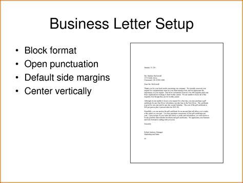 Letter Setup by Business Letter Set Up Scrumps
