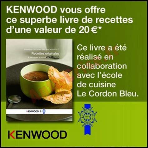 bon plan kenwood un livre de recettes offert pour tout