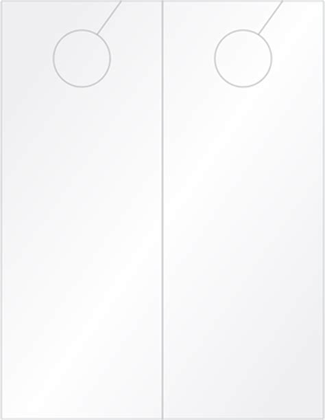4 25 X 11 Door Hanger Template by Laser Printable Blank Tags