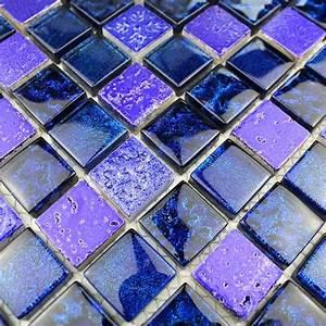 Carrelage De Douche : cr dence cuisine carrelage cuisine carrelage douche carrelage salle de bain metallic bleu ~ Melissatoandfro.com Idées de Décoration
