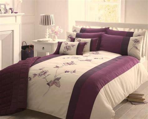 Purple & Cream Double Duvet Cover