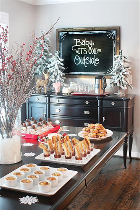 christmas buffet table decorating ideas