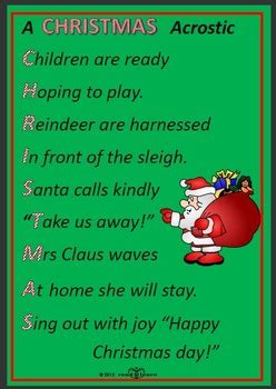writing christmas poems  early childhood students