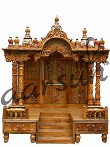Traditional Teak Wood Temple for Home Aarsun Woods