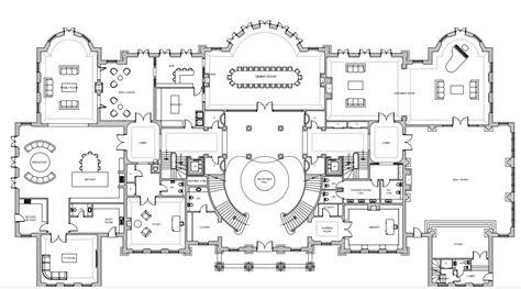 Mansion Floor Plans by Ground Living Floor Plan Of A 56 000 Square Foot