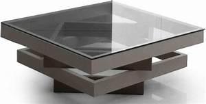 modern square multi level glass top coffee table narita With two level glass coffee table