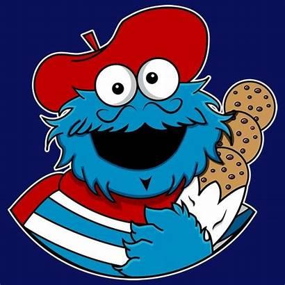 Cookie Monster Cartoon Monsieur Le Illustrations Nom
