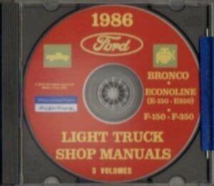 auto repair manual free download 1986 ford f series parental controls ford 1986 bronco econoline e150 e350 f150 f350 pick up truck shop manual cd ebay