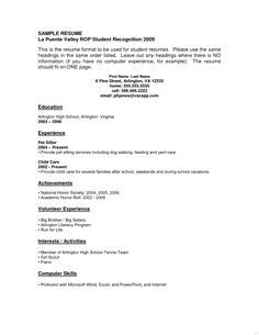 Resume Template Youth Central by Resume Exles Sle Secondary