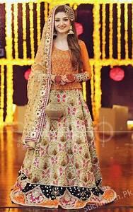 Beautiful Mehndi Dresses Designs For Pakistani Brides 2017