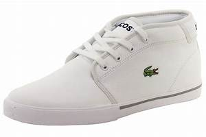 Lacoste Men's Ampthill LCR3 White Leather Chukka Sneakers ...