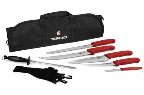 victorinox kitchen knives fibrox victorinox fibrox bbq knife roll set 7 cutlery