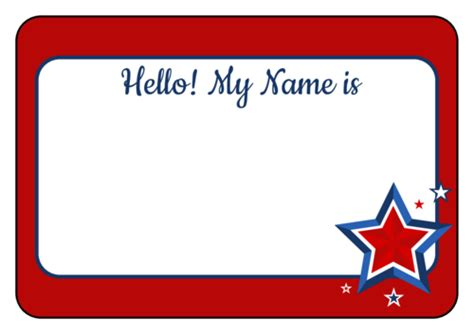 Name Tag Label Templates  Hello My Name Is Templates