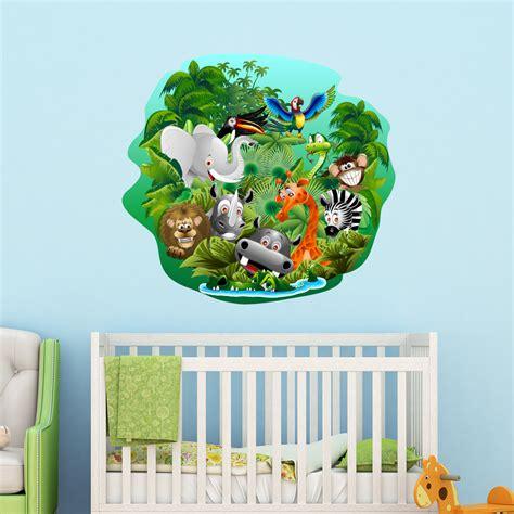 stickers muraux animaux de la jungle sticker animaux de la jungle en f 234 te stickers animaux animaux de la jungle ambiance sticker