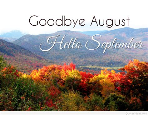 Pictures hello September sayings, quotes