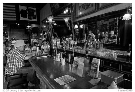 Black And White Picturephoto Man Sitting At Bar