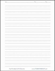 4 lines english writing sheets