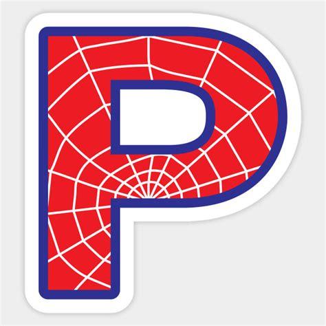spiderman letter p letter sticker teepublic