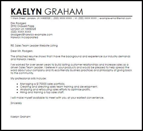 cover letter for customer service team lead