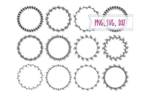 elegant frames svg floral circle clipart  bunart thehungryjpegcom
