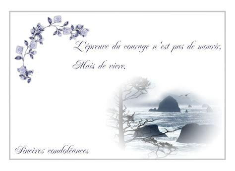 modèle carte de condoléances condol 233 ances mod 232 le mod 232 le de lettre