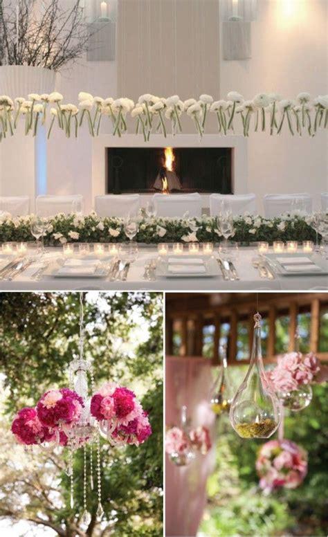 wedding reception ceiling decor hanging flowers