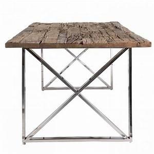 Esstisch Tischplatte Aus Altholz Mit Glasplatte Tisch Im