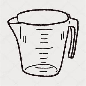 Medir la doodle taza Vector de stock © hchjjl #74748621
