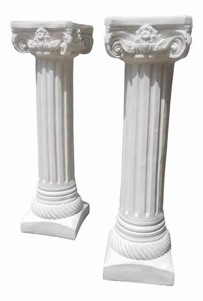Columns Grecian Roman Pair