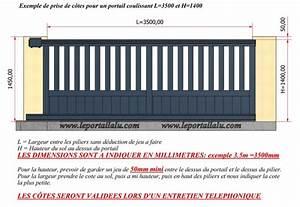 Portail Coulissant Motorisé 4m : taille standard portail coulissant portail coulissant 4m ~ Dailycaller-alerts.com Idées de Décoration