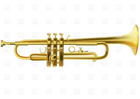 Trumpet Clipart Golden Trumpet 25329 Objects Royalty Free