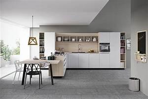 30 foto di cucine bianche e legno dal design moderno for Cucina bianca legno