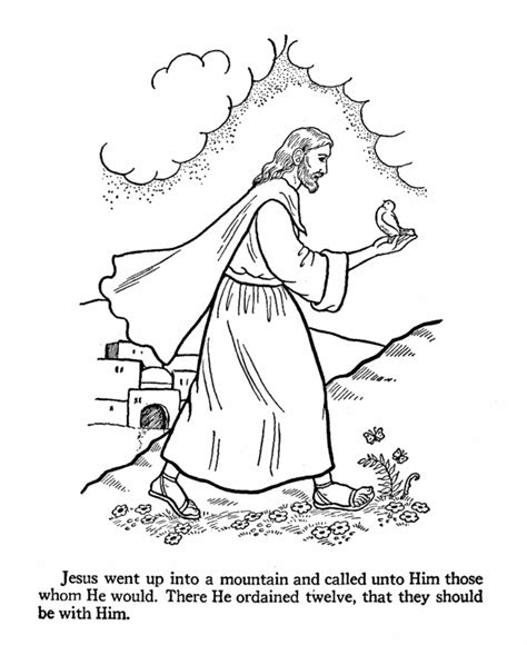 Bible Printables Apostles Coloring Pages 12