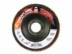 TYPE 29 CERAMIC FLAP DISCS - Mercer Industries