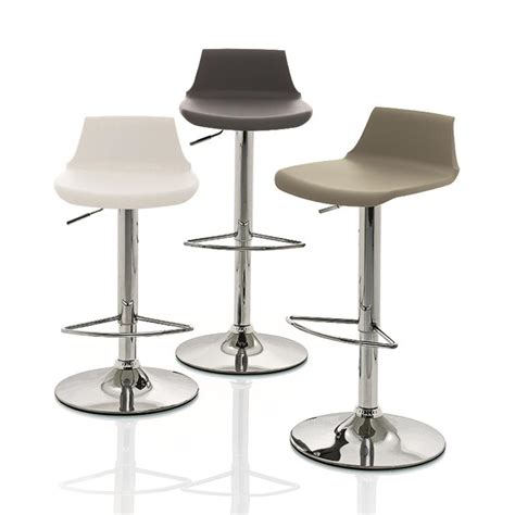 tabouret de bar blanc design r 233 glable et pivotant sur cdc design