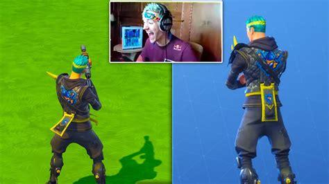 Surprising Ninja With A Custom Ninja Skin In Fortnite