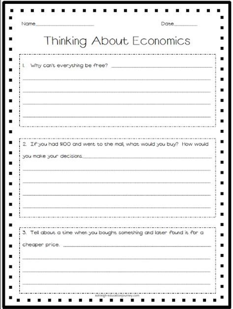 Economics Pretestactivate What Your Students Already Know About Economics! Fourthgradefriends