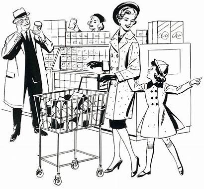 Supermarket Grocery Memories Clipart Nostalgia Drawing County