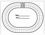 Race Track Coloring Math Facts Printable Racing Tracks Sheets Boy Fast sketch template