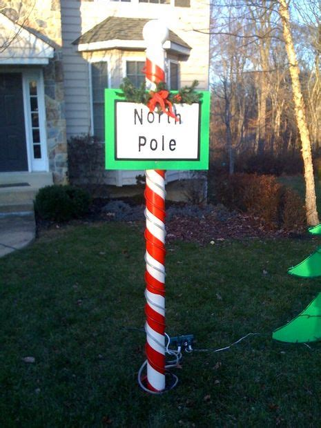 north pole christmas decoration  steps