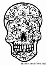Sugar Skull Coloring Pages Skulls Drawings Adult Print Crafts Printable Halloween Sheets Adults sketch template