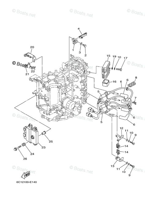 yamaha outboard parts by year 2006 and later oem parts diagram for electrical 1 boats net
