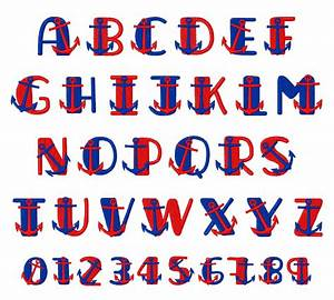 free other font file page 59 newdesignfilecom With nautical themed alphabet letters
